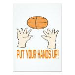 Ponga sus manos invitación 12,7 x 17,8 cm