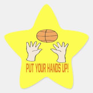 Ponga sus manos calcomanía cuadrada personalizada