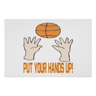 Ponga sus manos póster