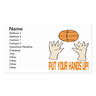 Ponga sus manos tarjeta personal