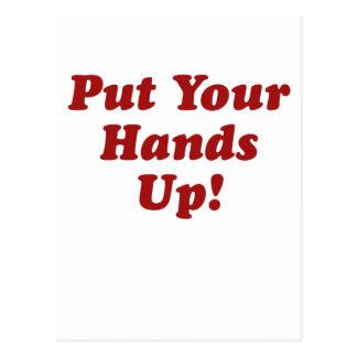 Ponga sus manos tarjetas postales