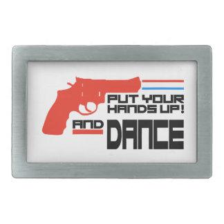 Ponga sus manos y baile hebilla cinturon rectangular