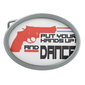Ponga sus manos y baile hebilla de cinturon