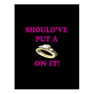 Ponga un anillo en él tarjetas postales