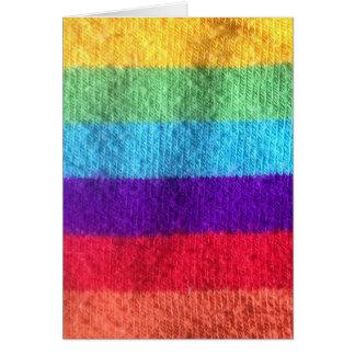 Ponga un calcetín del colorfull en él imagen de la tarjeta pequeña