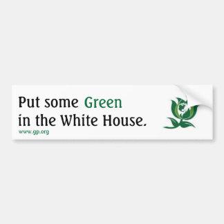 Ponga un cierto verde en la Casa Blanca v2 Pegatina Para Auto