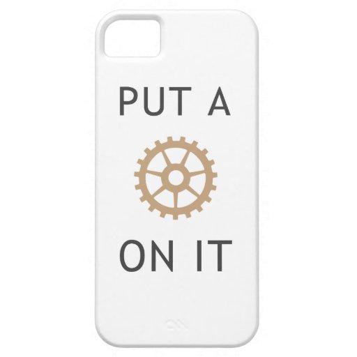 Ponga un engranaje en él - caso de Steampunk Funda Para iPhone 5 Barely There