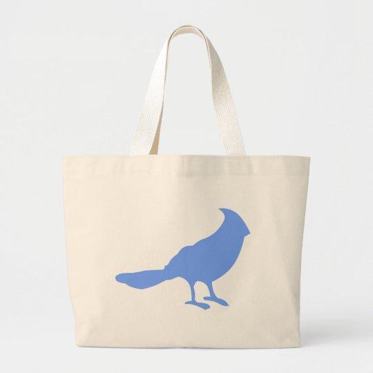 Ponga un pájaro en él bolsa de tela grande
