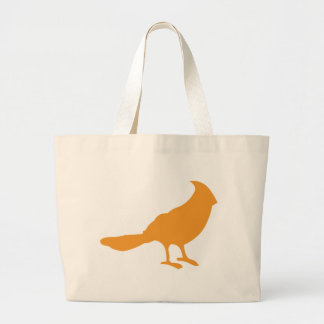 Ponga un pájaro en él el naranja bolsa de mano