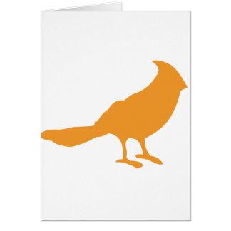 Ponga un pájaro en él el naranja felicitaciones