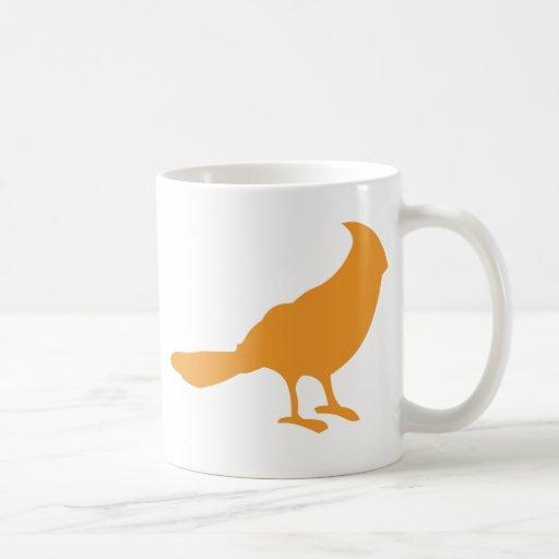 Ponga un pájaro en él (el naranja) taza clásica