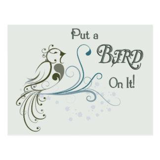 Ponga un pájaro en él tarjetas postales