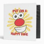 "Ponga una cara feliz carpeta 1 1/2"""