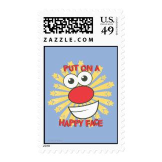 Ponga una cara feliz franqueo