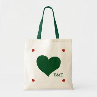 ponga verde el corazón (del color de encargo) del bolsa tela barata