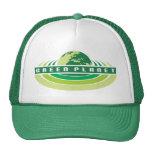 Ponga verde el gorra del planeta
