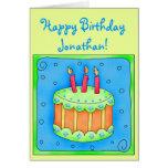 Ponga verde la 3ro tarjeta de cumpleaños con la to
