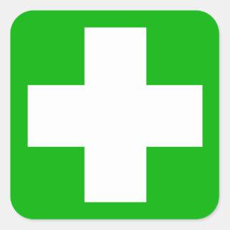 Ponga verde la etiqueta de los primeros auxilios