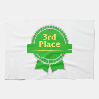 Ponga verde la tercera cinta del lugar toalla