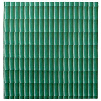 Ponga verde las rayas grabadas en relieve que la servilleta