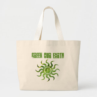 Ponga verde nuestra tierra bolsa tela grande