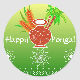 Pongal - South Indian festival Classic Round Sticker