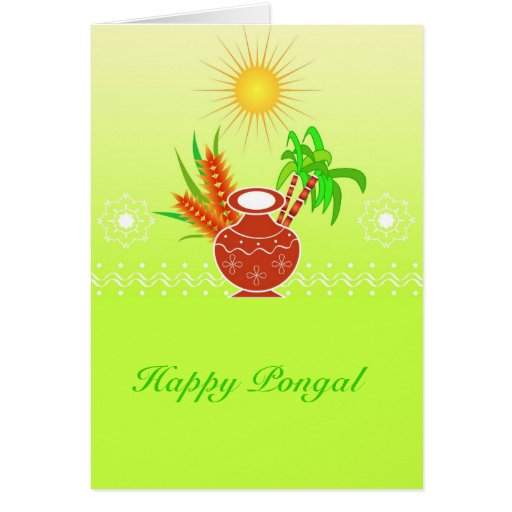 Pongal - South Indian Festival Greeting Cards
