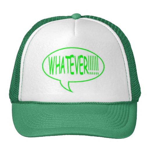 Póngase verde cualquier burbuja del discurso gorras de camionero