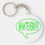 Póngase verde cualquier burbuja del discurso llavero personalizado