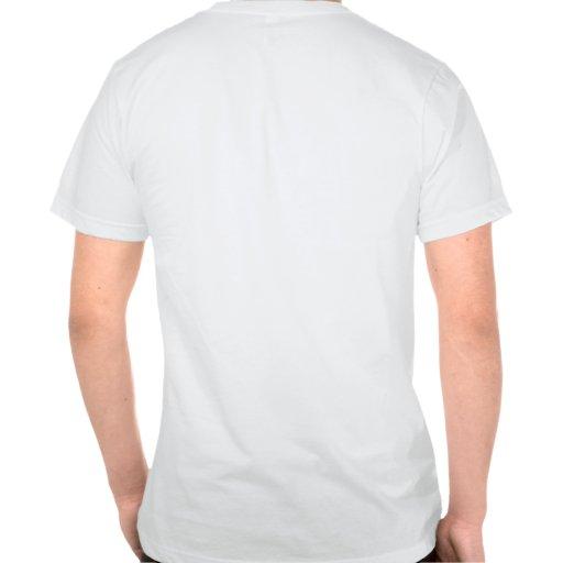 Póngase verde en el negro - frente de Munkey/parte Camisetas