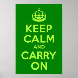 Póngase verde guardan calma y continúan impresiones