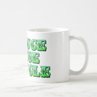 Póngase verde reducen la reutilización y la recicl taza de café