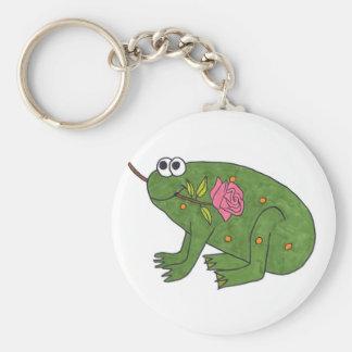 Pongo Frog with Rose (Keychain) Keychain