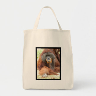 Pongo Orangutan Ape Grocery Tote Canvas Bags