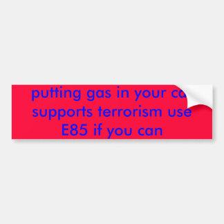 poniendo el gas en su terrorismo de las ayudas del pegatina para auto