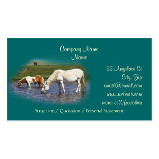 Ponies At Watering Hole business cards