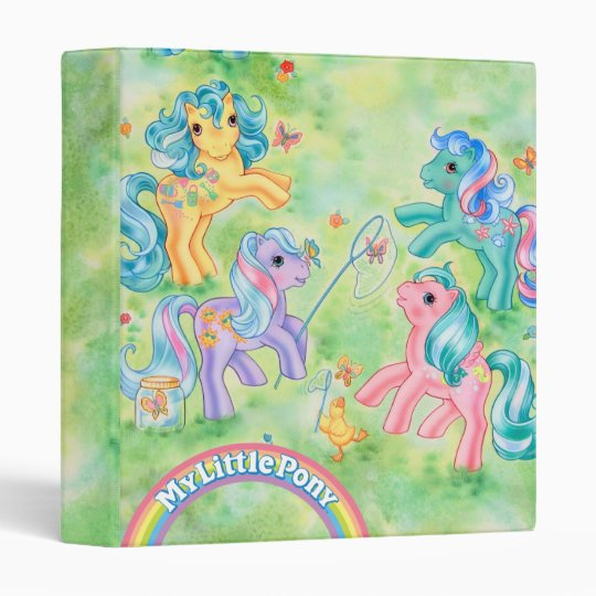 Ponies Catching Butterflies Binder