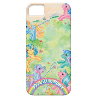 Ponies Catching Butterflies iPhone 5 Cases