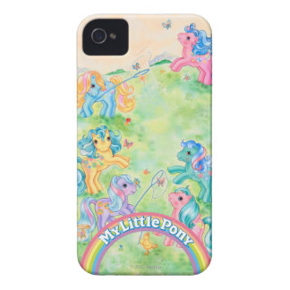Ponies Catching Butterflies Case-Mate iPhone 4 Case