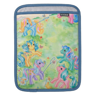 Ponies Catching Butterflies iPad Sleeve