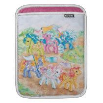 Ponies Catching Butterflies iPad Sleeve
