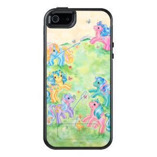 Ponies Catching Butterflies OtterBox iPhone 5/5s/SE Case