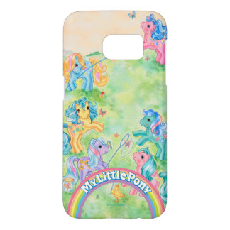 Ponies Catching Butterflies Samsung Galaxy S7 Case
