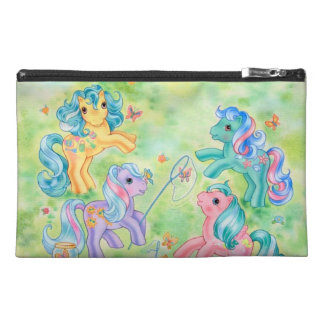 Ponies Catching Butterflies Travel Accessory Bag