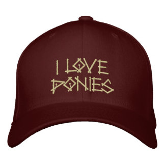 PONIES EMBROIDERED BASEBALL CAP
