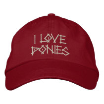 PONIES EMBROIDERED BASEBALL HAT