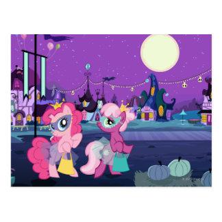 Ponies in Halloween Costumes Postcard