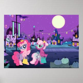 Ponies in Halloween Costumes Poster