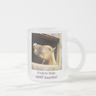 Ponies Only LOOK Angelic! Frosted Glass Coffee Mug