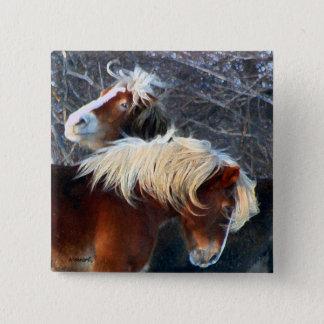 ponies pinback button